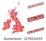 geographic collage of dot... | Shutterstock .eps vector #1278214255