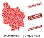 geographic combination of dot... | Shutterstock .eps vector #1278217435