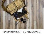 the golden bag fell to the... | Shutterstock . vector #1278220918