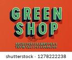 vector modern logo green shop... | Shutterstock .eps vector #1278222238