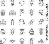 thin line icon set   brainstorm ... | Shutterstock .eps vector #1278222265