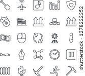 thin line icon set   plane... | Shutterstock .eps vector #1278222352