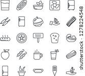 thin line icon set   hot cup... | Shutterstock .eps vector #1278224548