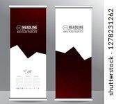 roll up business brochure flyer ... | Shutterstock .eps vector #1278231262
