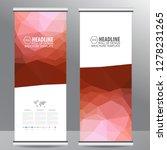 roll up business brochure flyer ... | Shutterstock .eps vector #1278231265
