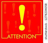 danger warning attention or... | Shutterstock .eps vector #1278234058