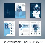 cover book design set  blue... | Shutterstock .eps vector #1278241072