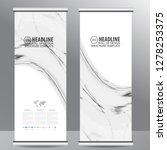 roll up business brochure flyer ... | Shutterstock .eps vector #1278253375