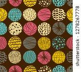 doodle background. seamless... | Shutterstock .eps vector #1278267778