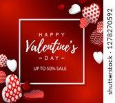 valentines day sale banner.... | Shutterstock .eps vector #1278270592