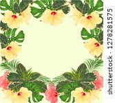 frame tropical flowers  floral... | Shutterstock .eps vector #1278281575