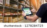 smart warehouse management... | Shutterstock . vector #1278284725