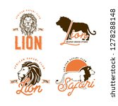 african animals labels isolated ... | Shutterstock .eps vector #1278288148