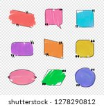 vector colorful quote frames ...   Shutterstock .eps vector #1278290812