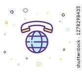 phone icon illustration | Shutterstock .eps vector #1278298435