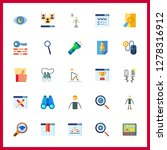 25 search icon. vector... | Shutterstock .eps vector #1278316912