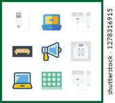 9 portable icon. vector... | Shutterstock .eps vector #1278316915