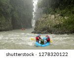 group of people river rafting...   Shutterstock . vector #1278320122