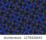 blue abstract pattern. floral... | Shutterstock . vector #1278320692