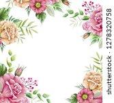 flower frame from drawings of...   Shutterstock . vector #1278320758