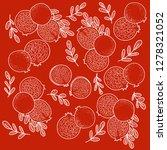 pomegranate background...   Shutterstock . vector #1278321052