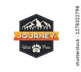 moutnain journey badge. wild... | Shutterstock .eps vector #1278322798