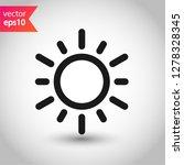 sun icon. sun line icon....   Shutterstock .eps vector #1278328345