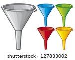 Illustration Of Funnel  Plasti...