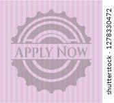 apply now pink emblem. retro   Shutterstock .eps vector #1278330472