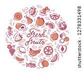 fruits illustration. circle... | Shutterstock .eps vector #1278331498