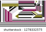 colorful geometric stripes... | Shutterstock . vector #1278332575