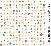 multicolor stars kids pattern ...   Shutterstock .eps vector #1278334768