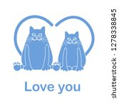 vector illustration of two cats ... | Shutterstock .eps vector #1278338845