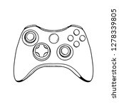 gaming controller illustration. ...   Shutterstock .eps vector #1278339805