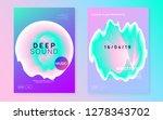 music flyer set. abstract... | Shutterstock .eps vector #1278343702