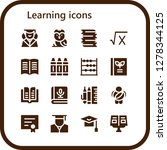 learning icon set. 16 filled... | Shutterstock .eps vector #1278344125