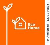 eco home logo  | Shutterstock .eps vector #1278344815