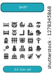 baby icon set. 25 filled baby... | Shutterstock .eps vector #1278345868