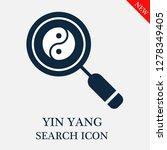 yin yang search icon. editable... | Shutterstock .eps vector #1278349405