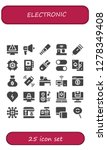 electronic icon set. 25 filled ... | Shutterstock .eps vector #1278349408
