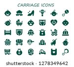 carriage icon set. 30 filled... | Shutterstock .eps vector #1278349642