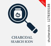 charcoal search icon. editable... | Shutterstock .eps vector #1278350188