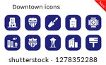 downtown icon set. 10 filled... | Shutterstock .eps vector #1278352288