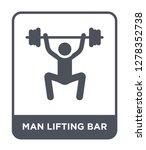 man lifting bar icon vector on... | Shutterstock .eps vector #1278352738