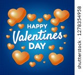 happy valentines day concept... | Shutterstock .eps vector #1278354958