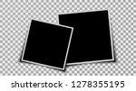 set of two blank photo frames... | Shutterstock .eps vector #1278355195