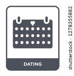 dating icon vector on white... | Shutterstock .eps vector #1278355882
