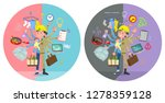a set of working man who...   Shutterstock .eps vector #1278359128
