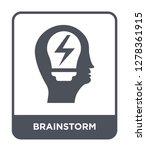 brainstorm icon vector on white ... | Shutterstock .eps vector #1278361915