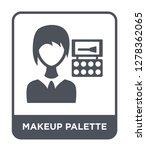 makeup palette icon vector on... | Shutterstock .eps vector #1278362065